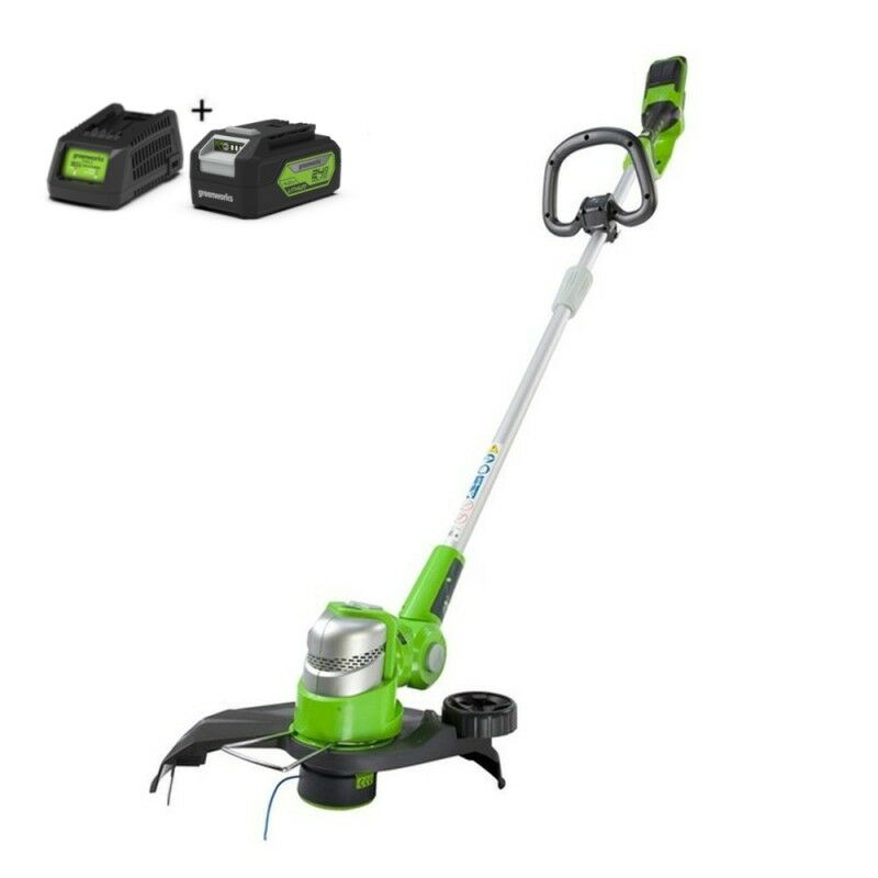Greenworks G24LT30MK4 Kantenmaaier accu grastrimmer | Graskantsnijder met 4Ah accu en lader (Kantenmaaier op accu)