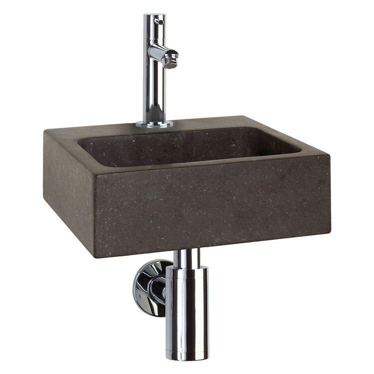 WC Fontein Differnz Square | Natuursteen Wastafel met Kraan