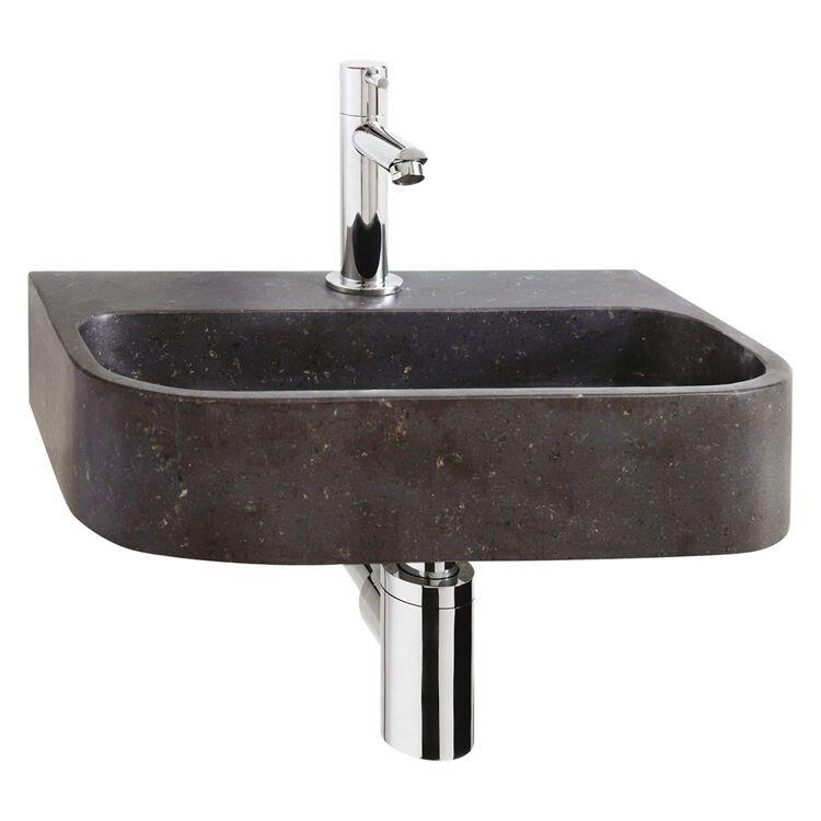 WC Fontein Differnz Ovale | Natuursteen Wastafel met Kraan