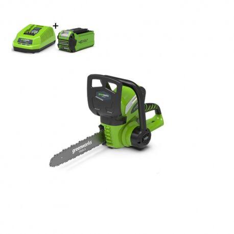 Greenworks G40CS30K2 Draadloze kettingzaag met 2Ah accu en lader | G-max 40 Volt | 30cm
