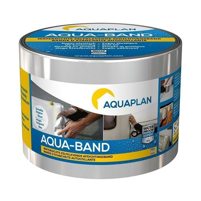 Aquaplan Aqua-Band Aluminium 10 m X 15 cm   Zelfklevende afdichtingsband