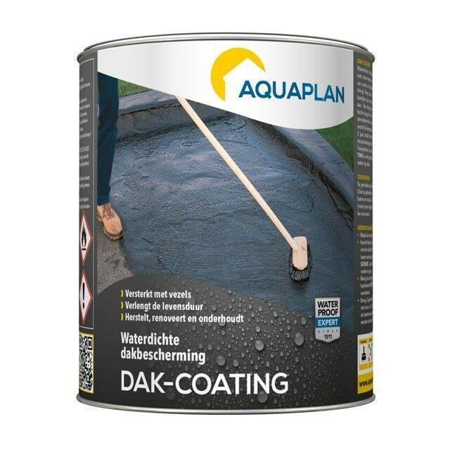 Aquaplan Dak-coating 1Kg   Soepele bitumineuze renovatiecoating