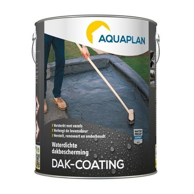 Aquaplan Dak-coating 5Kg   Soepele bitumineuze renovatiecoating