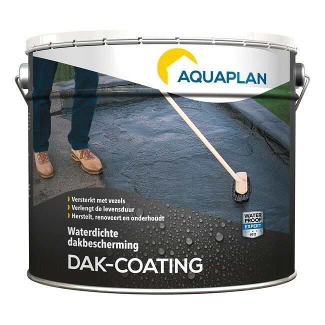 Aquaplan Dak-coating 10 Kg   Soepele bitumineuze renovatiecoating