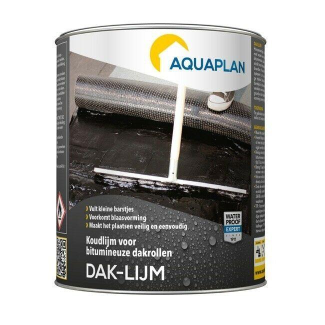Aquaplan Daklijm 1Kg   vezelversterkte bitumineuze koudlijm