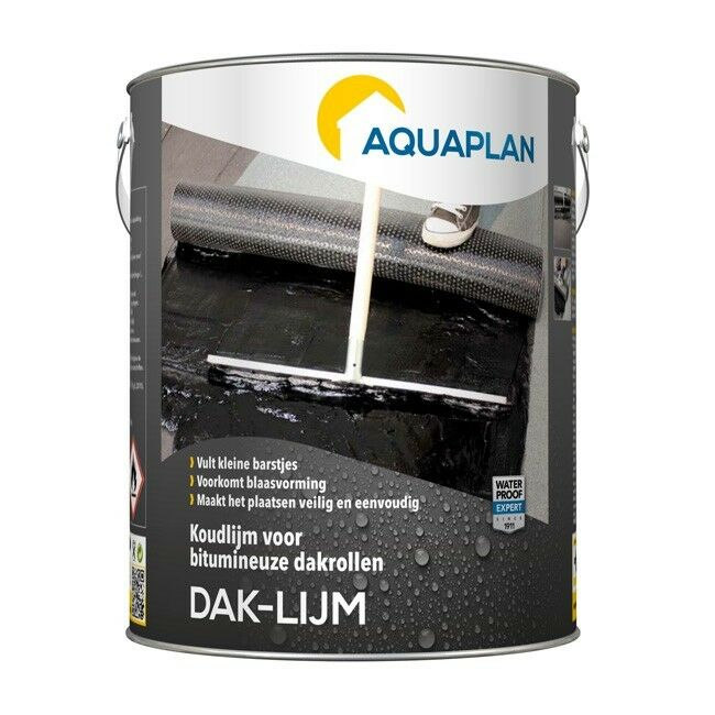 Aquaplan Daklijm 5Kg   Vezelversterkte bitumineuze koudlijm