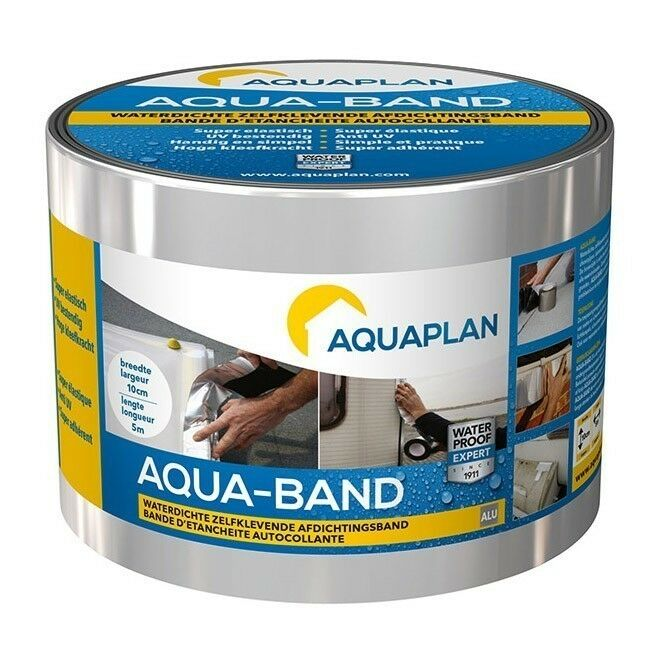 Aquaplan Aqua-Band Aluminium 10 m X 10 cm   Zelfklevende afdichtingsband
