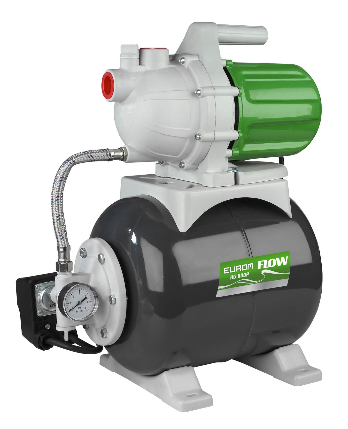 Eurom Flow HG 800P Drukpomp 800W | Hydrofoorgroep waterpomp