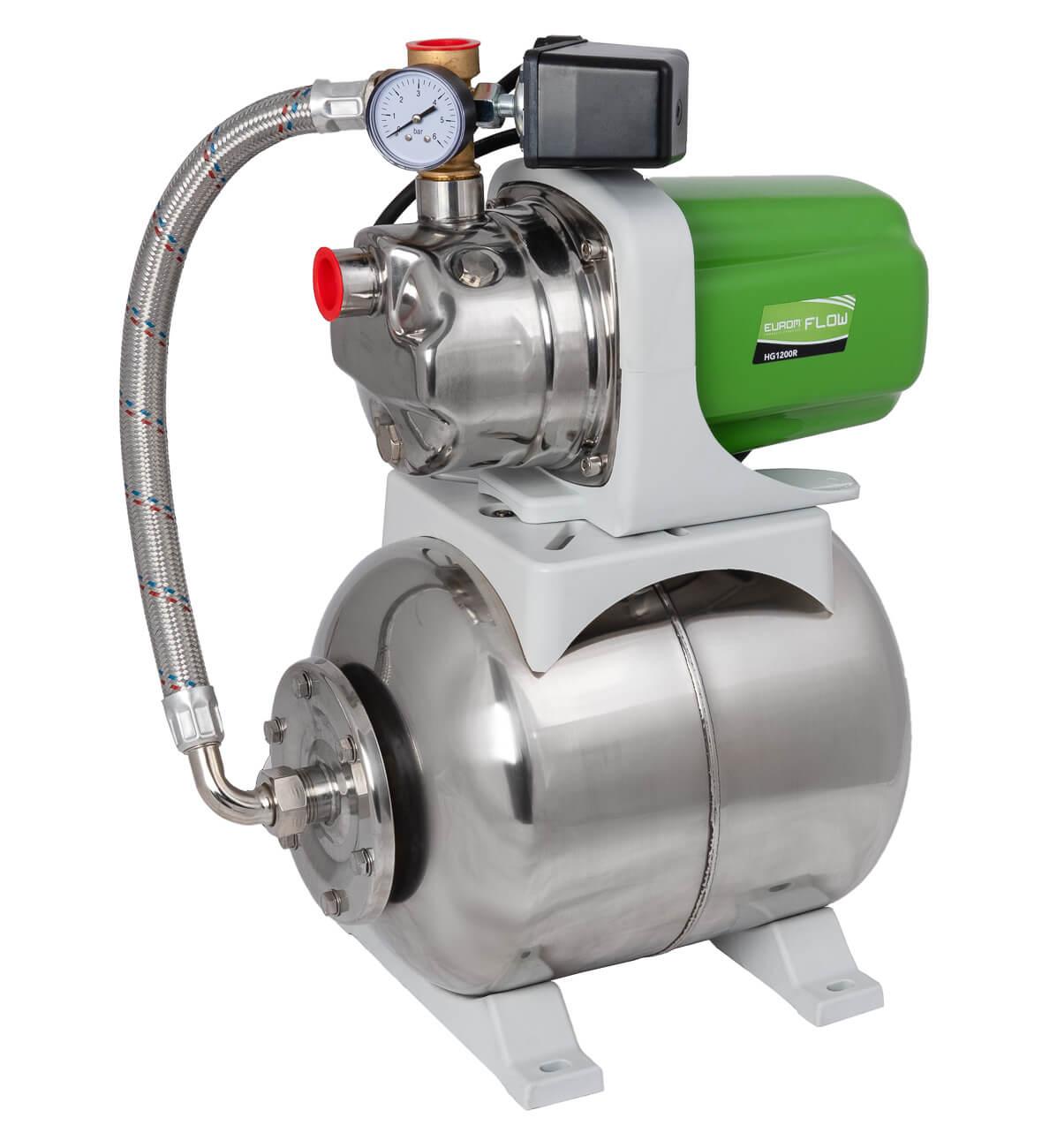 Eurom Flow HG1200R Drukpomp 1200W | Hydrofoorgroep waterpomp