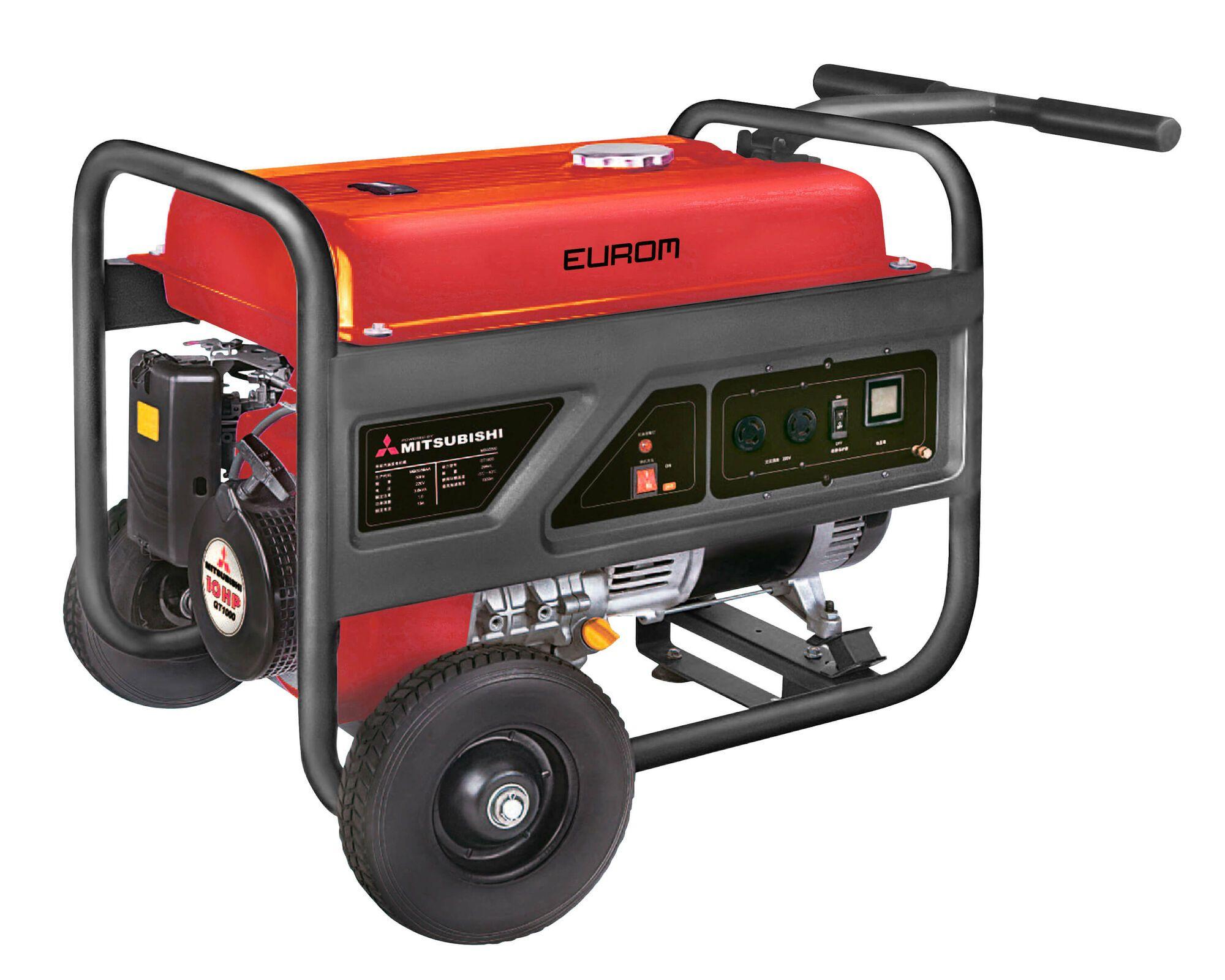 Eurom MM5500 Benzine generator 3.360W | Aggregaat 4,2 kVa Mitsubishi motor 230V