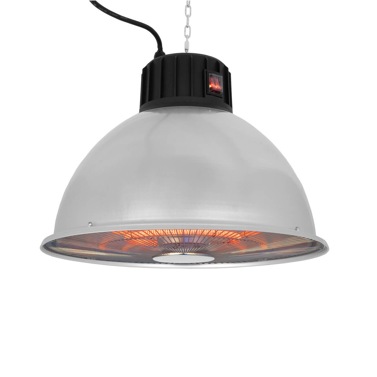 Eurom Partytent heater 1500 IND Carbon hangende infrarood terrasverwarmer D 42 cm