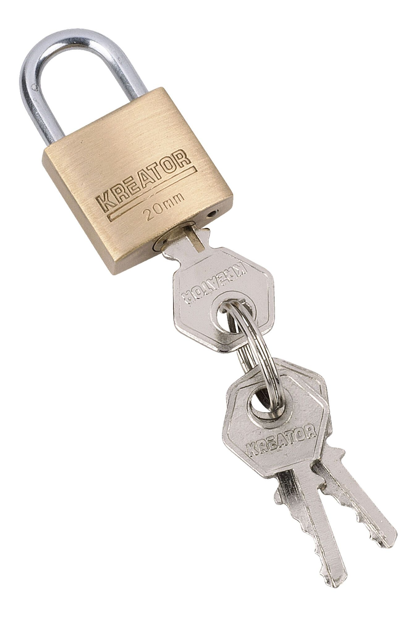 Kreator KRT557001 Hangslot | Messing Slot van 20 mm
