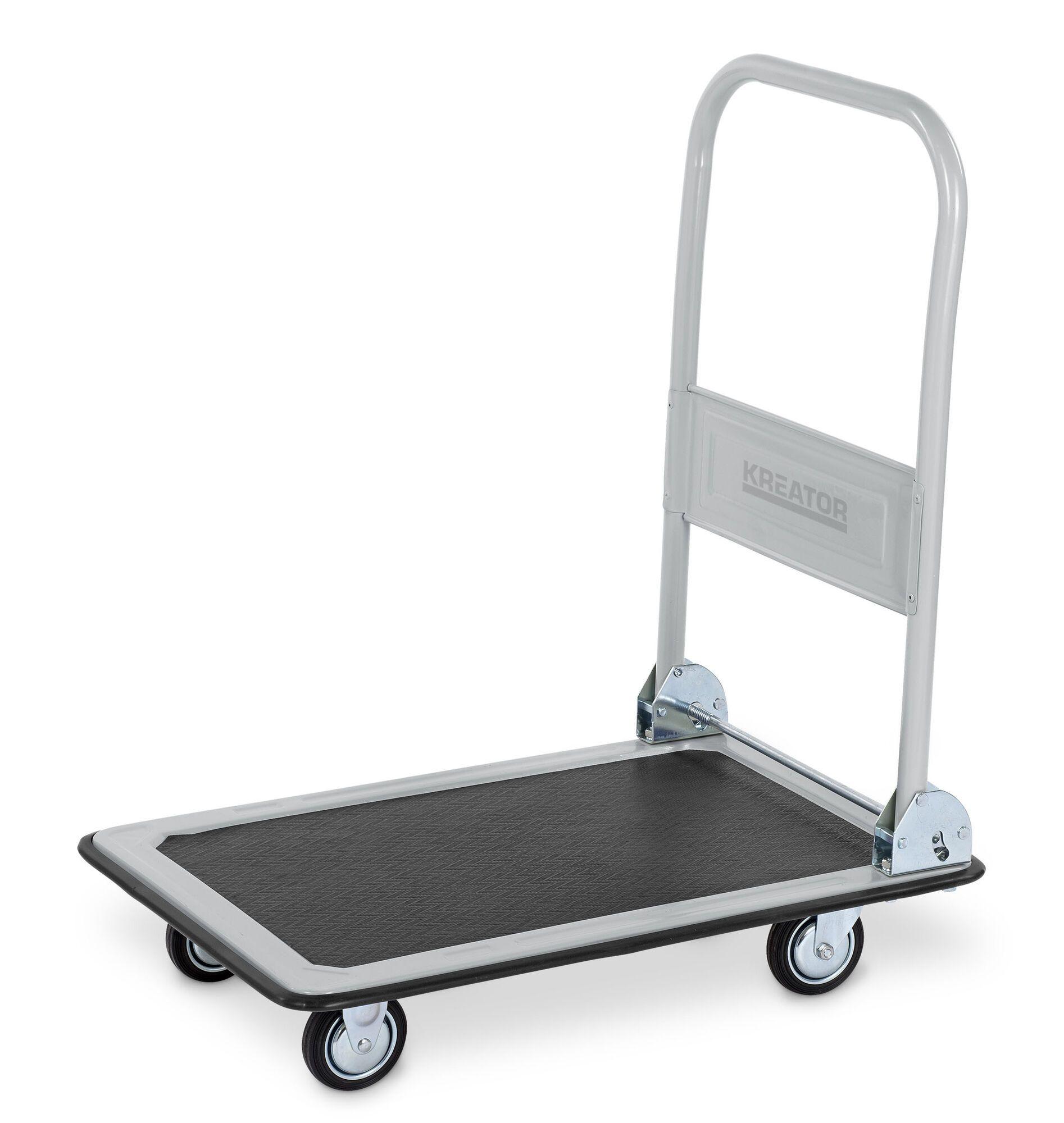 Kreator KRT670101 Vouwbare magazijnwagen 150kg | Plateauwagen