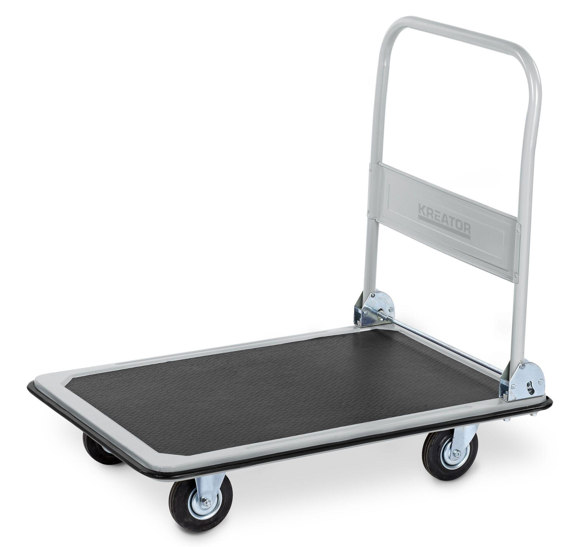 Kreator KRT670102 Vouwbare magazijnwagen 300kg | Plateauwagen