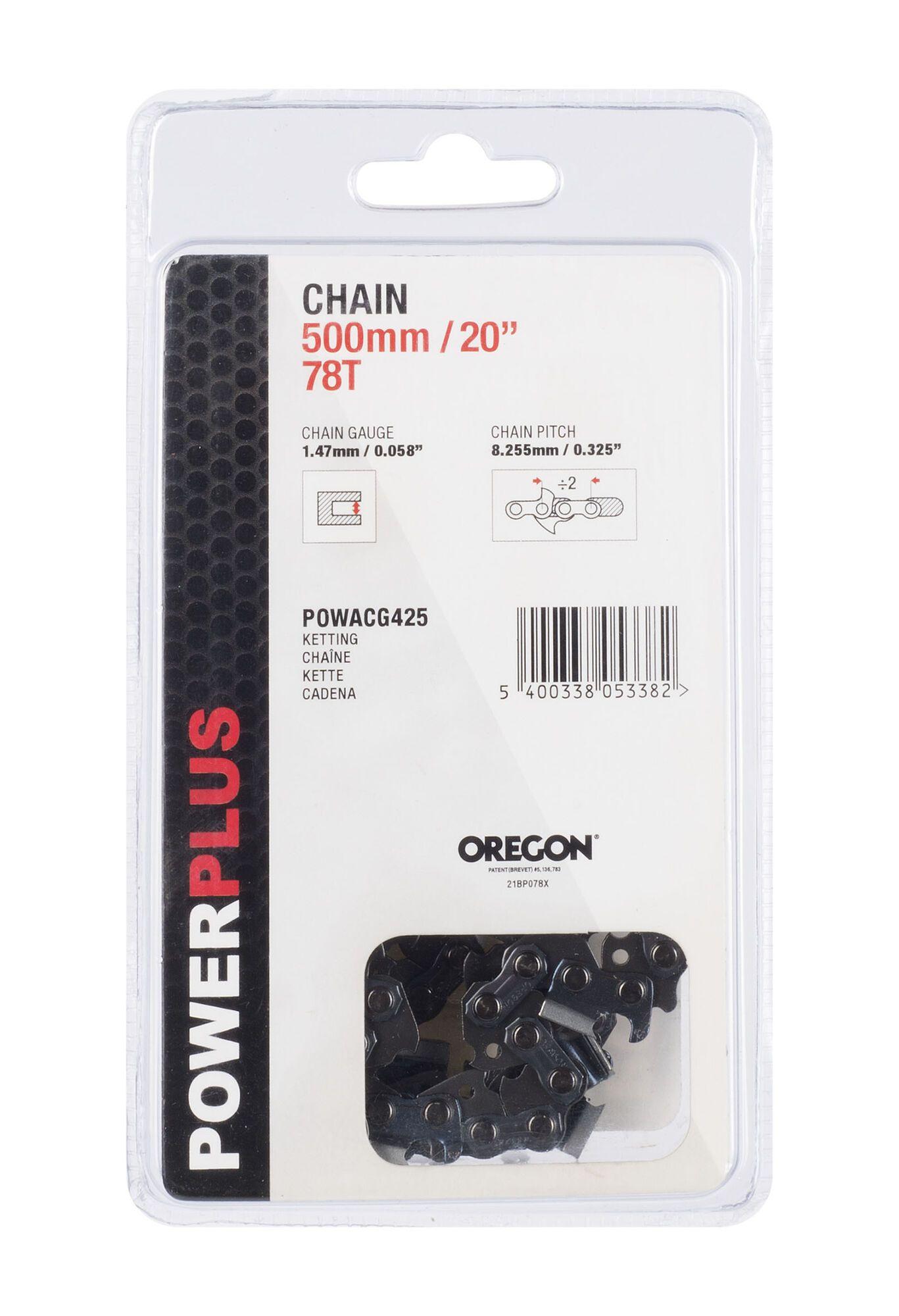 "Powerplus POWACG425 20"" Oregon ketting voor kettingzaag 580 mm 78 tanden"