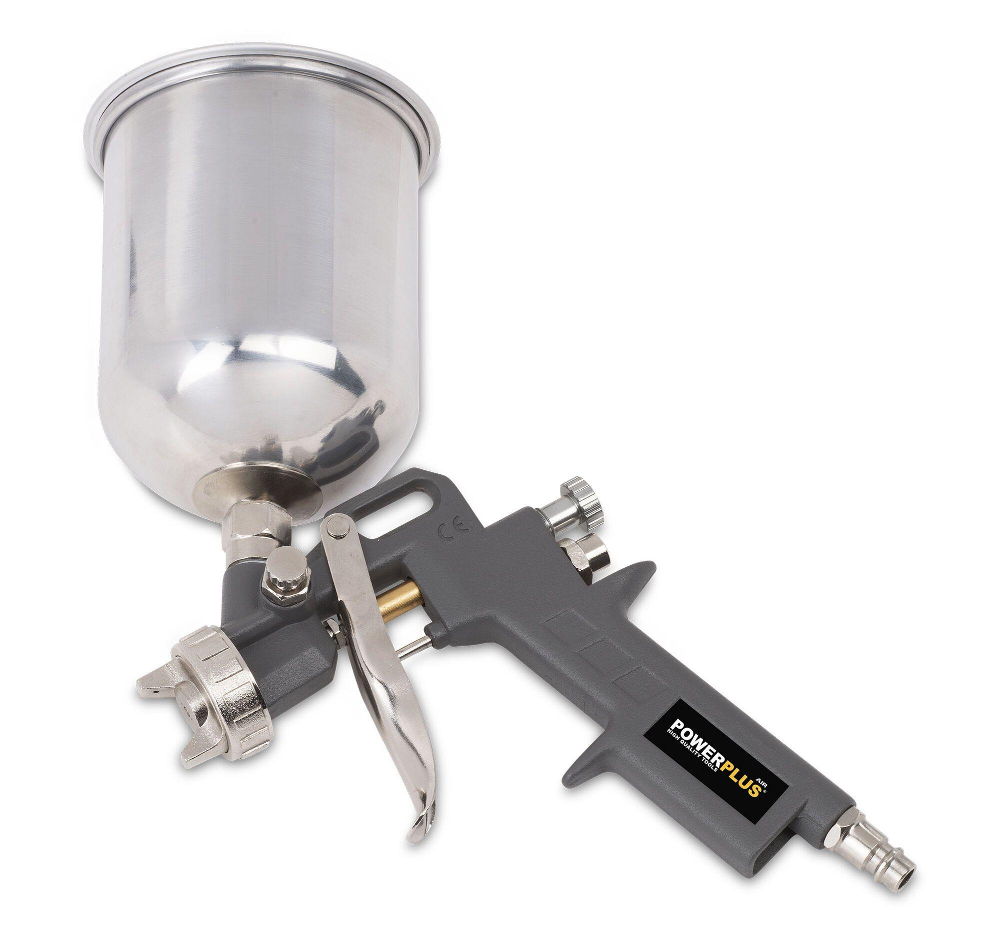 Powerplus POWAIR0105 Pneumatisch verfpistool | Verfspuit met bovenbeker (Verfspuiten pneumatisch)
