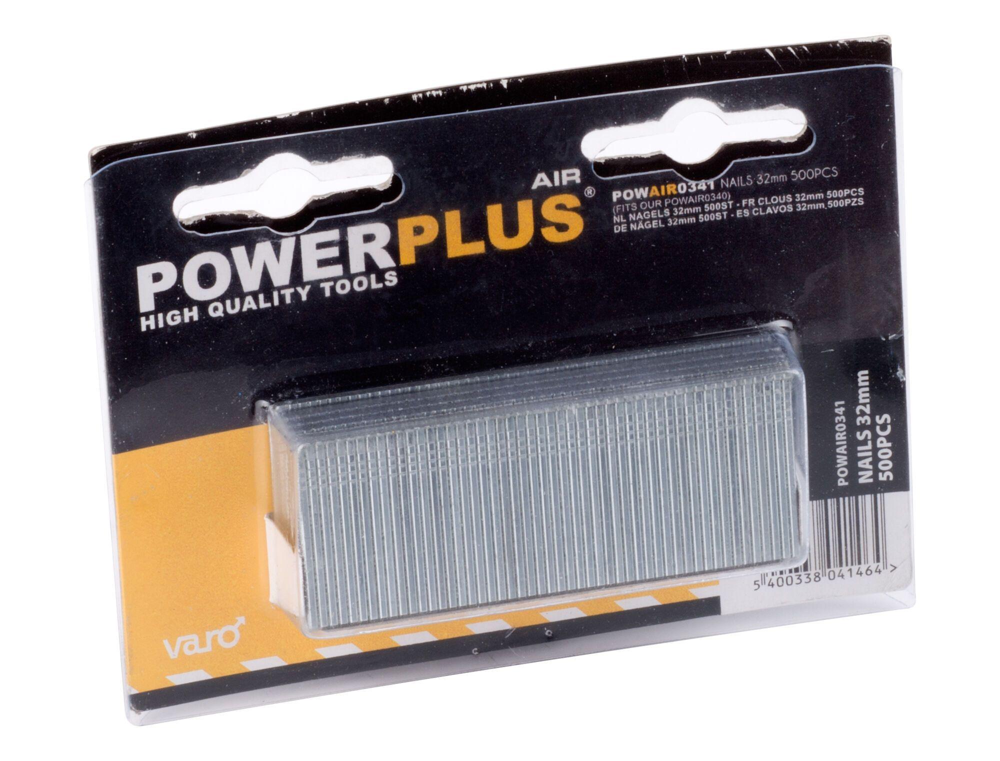 Powerplus POWAIR0341 500 Spijkers 32 mm | Stalen nagels voor nagelapparaat