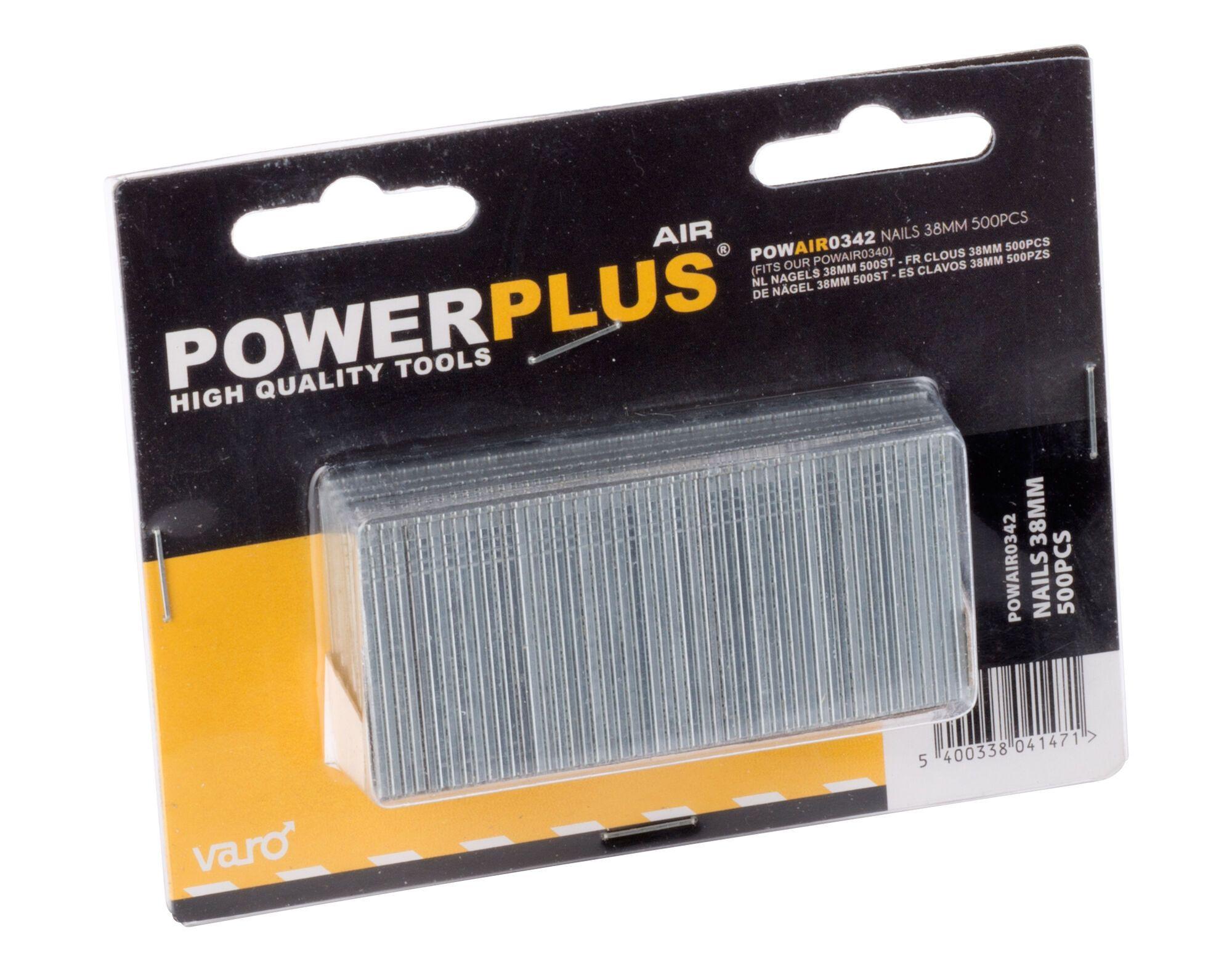 Powerplus POWAIR0342 500 Spijkers 38 mm | Stalen nagels voor nagelapparaat