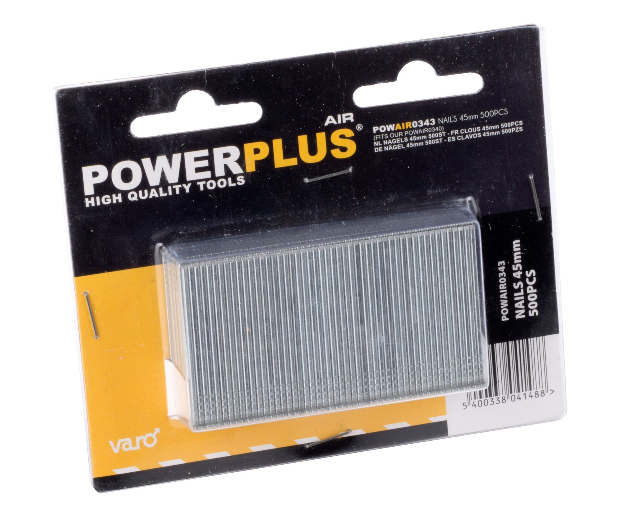 Powerplus POWAIR0343 500 Spijkers 45 mm | Stalen nagels voor nagelapparaat