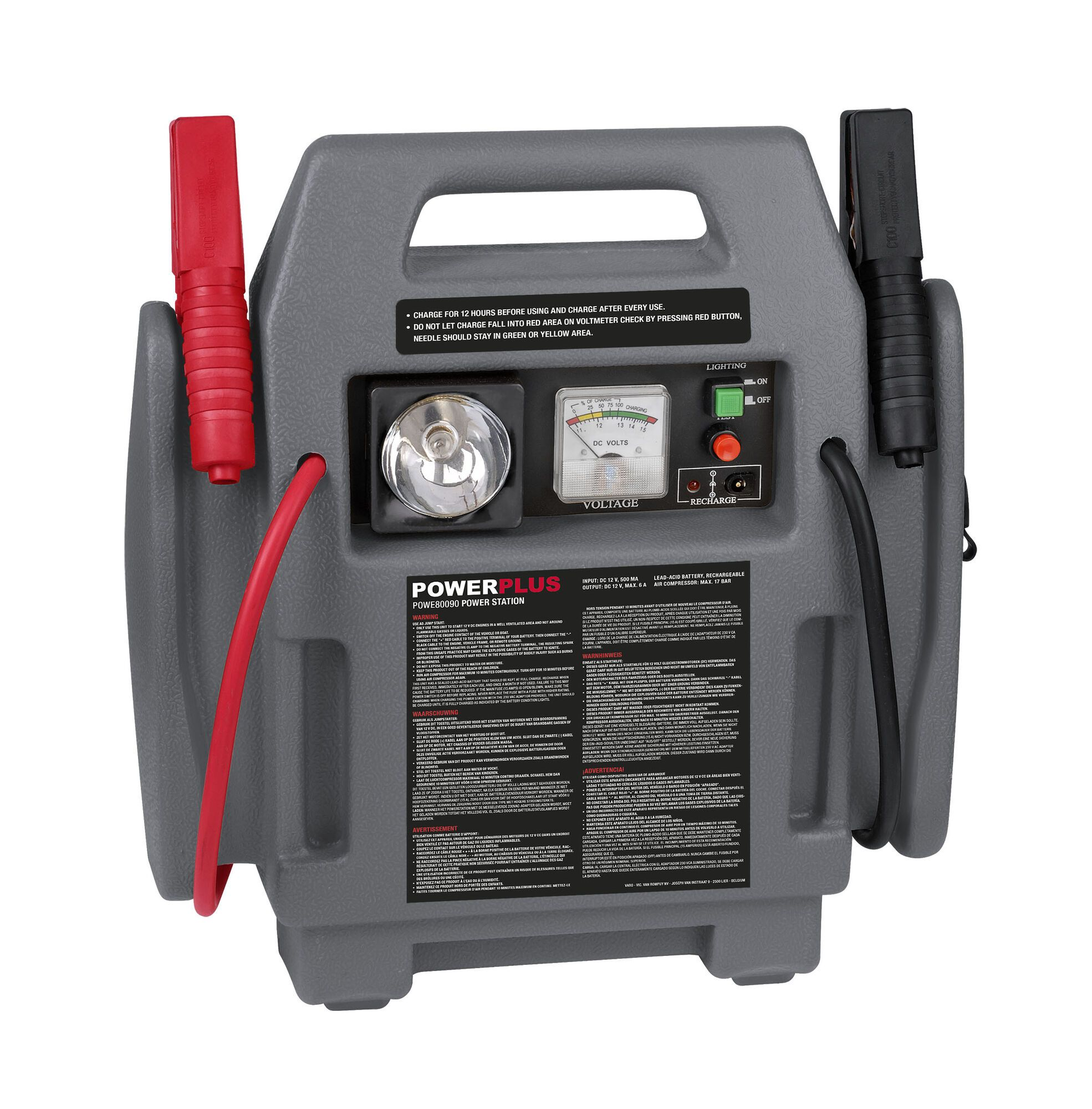 Powerplus POWE80090 Energiestation | Compressor | Jumpstarter | Starthulp 4-in-1