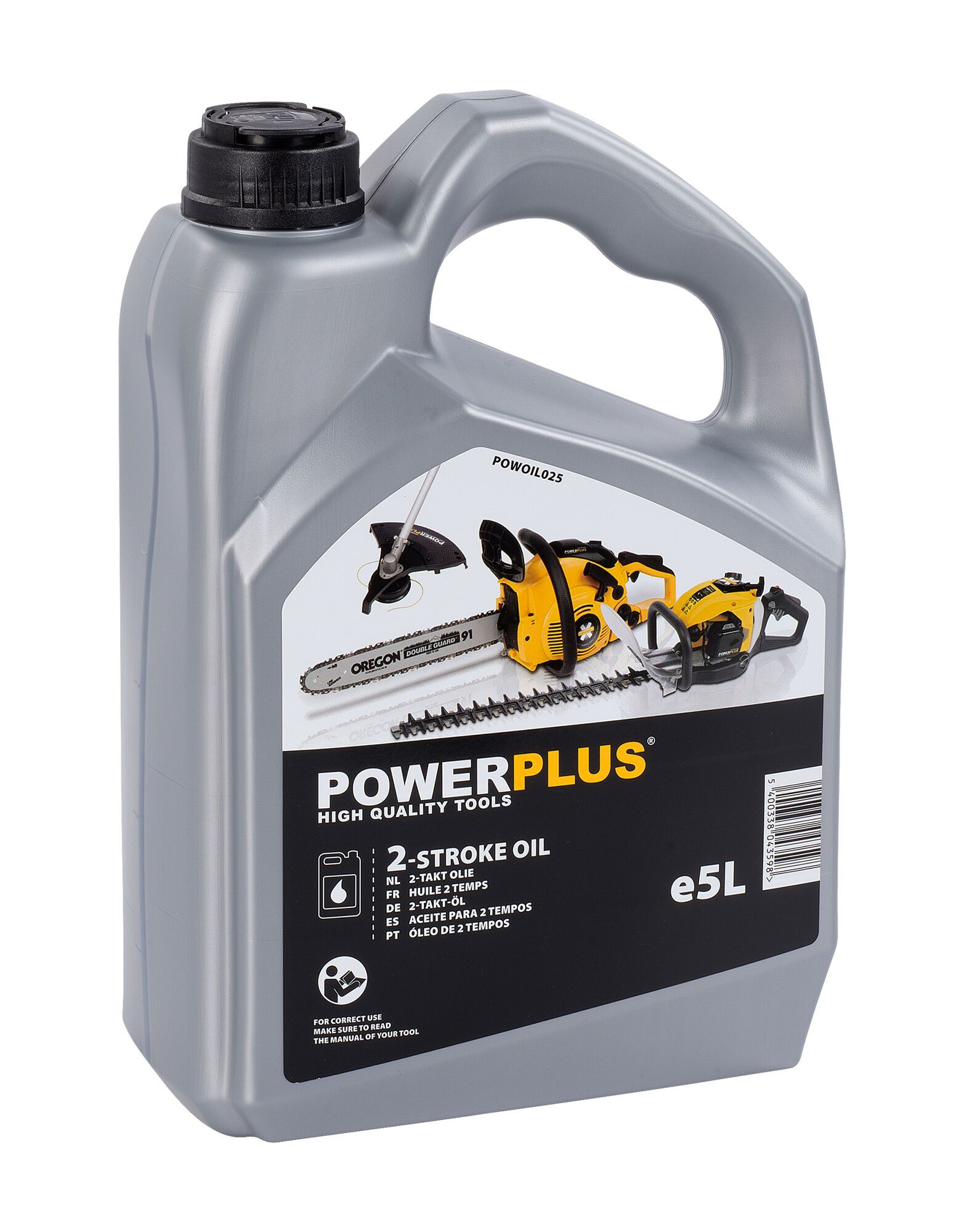 Powerplus POWOIL025 2-takt olie | 5 liter olie voor 2-takt machines