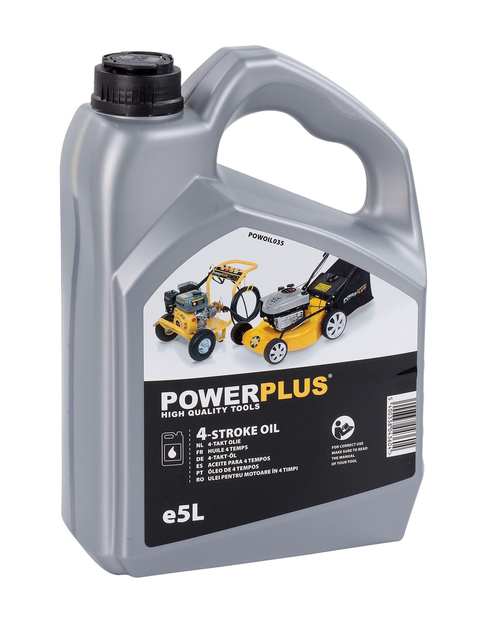 Powerplus POWOIL035 4-takt olie | 5 liter olie voor 4-takt machines