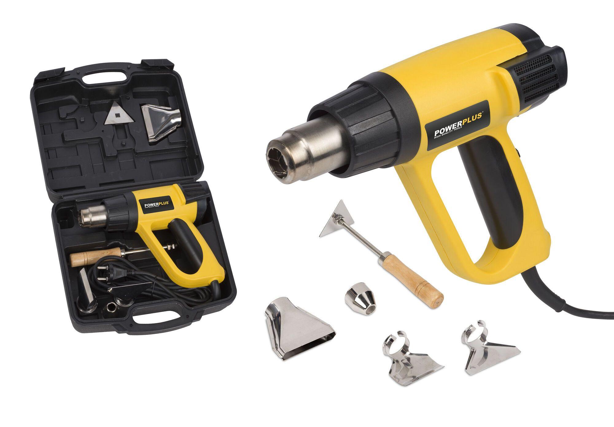 Powerplus POWX1025 Heteluchtpistool 2000W | Verfafbrander (verfstripper)