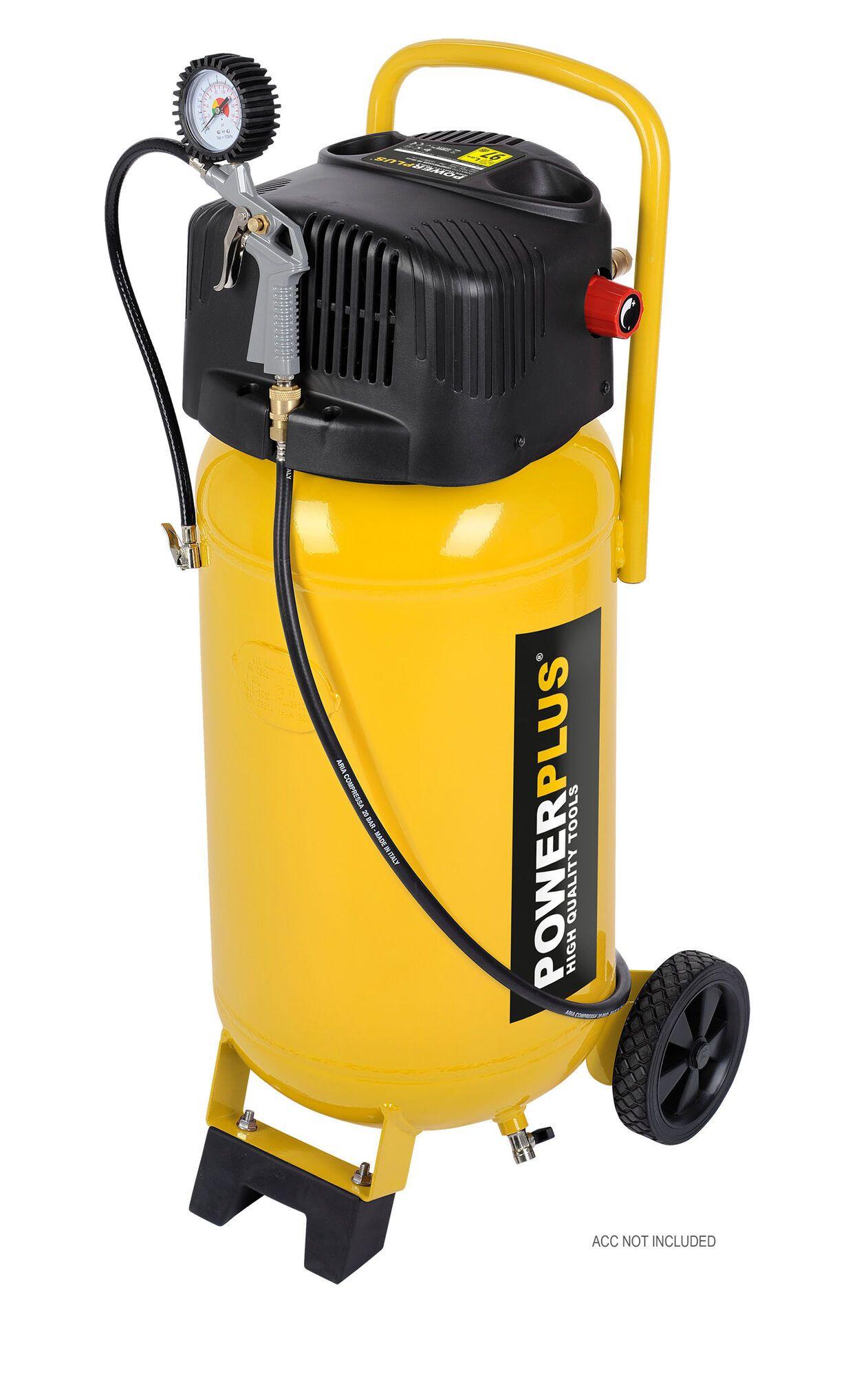 Powerplus POWX1750 Mobiele 1500W olievrije compressor met 50 liter tank