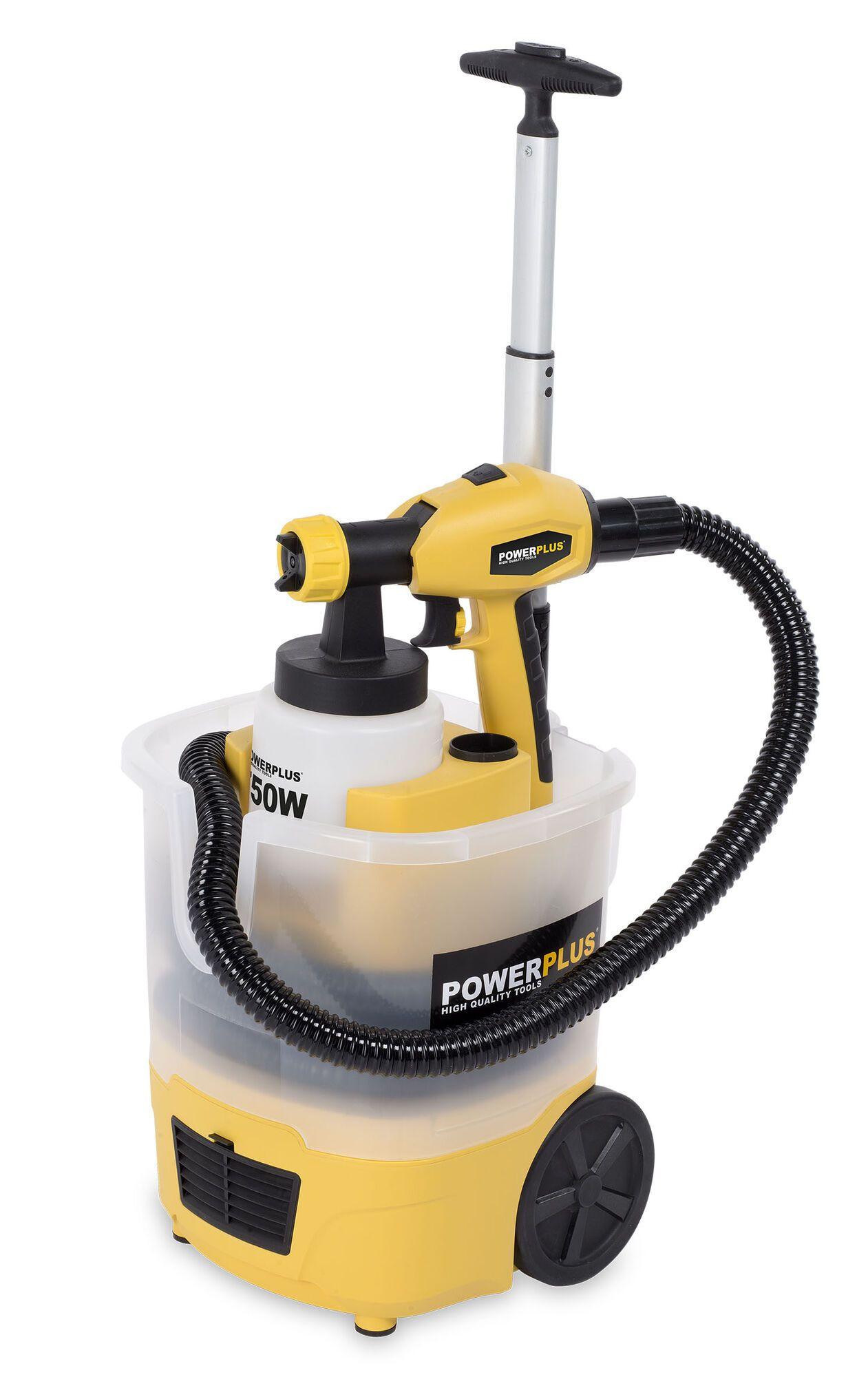 Powerplus POWX358 Elektrische verfspuit 750W + trolley | Verfpistool (Verfspuiten)