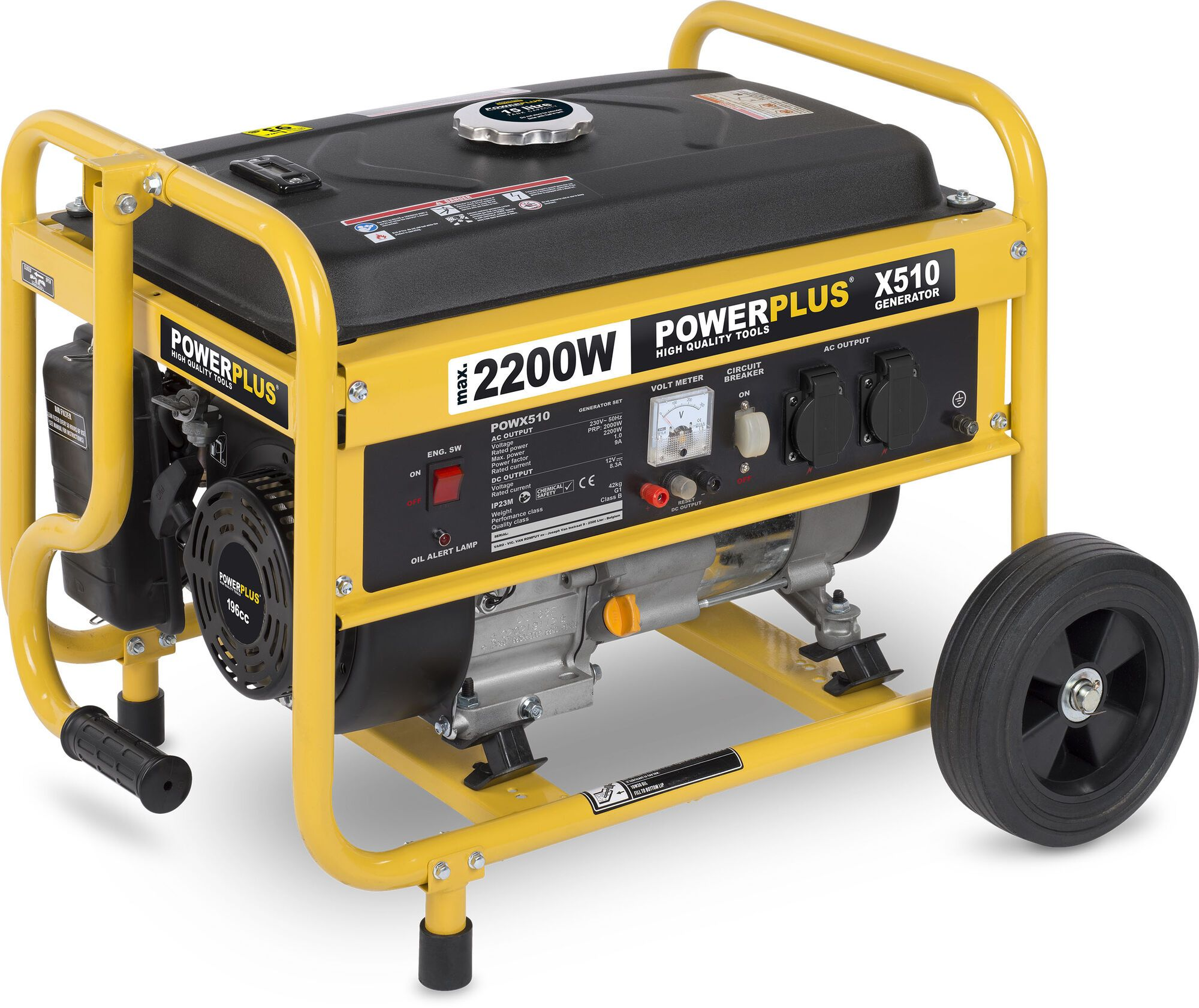 Powerplus POWX510 Benzine generator 196cc | Aggregaat 2000W 230V