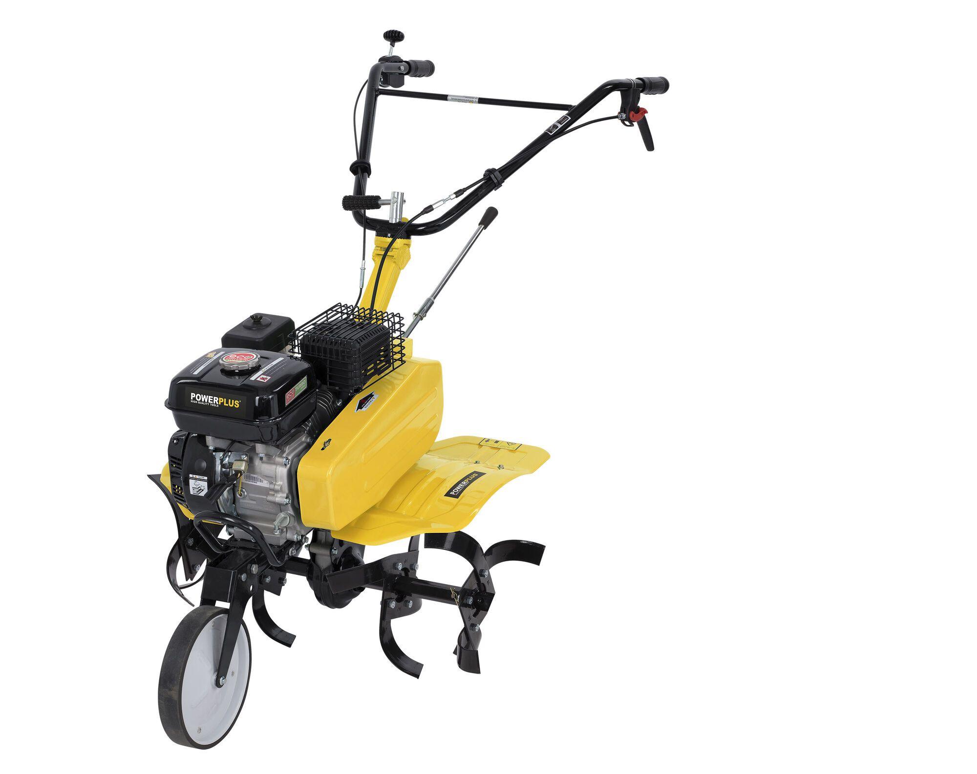 Powerplus POWXG7217 Benzine tuinfrees met ploeg 208cc | Cultivator met ploeg 105cm