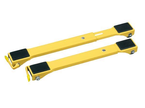 Perel QT109 Meubeltransporter 2 stuks | Dolly 250kg capaciteit | geel